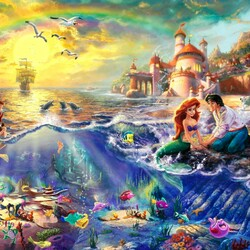 Jigsaw puzzle: The Little Mermaid by Kincaid