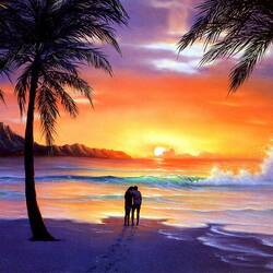 Jigsaw puzzle: Tropical sunset