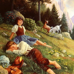 Jigsaw puzzle: Heidi and Peter