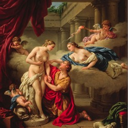 Jigsaw puzzle: Pygmalion and Galatea