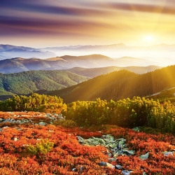 Jigsaw puzzle: Dawn over the hills