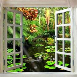 Jigsaw puzzle: Jungle window