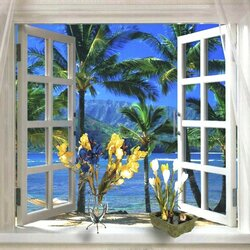 Jigsaw puzzle: Window to the tropics