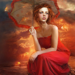 Jigsaw puzzle: Lady in Red