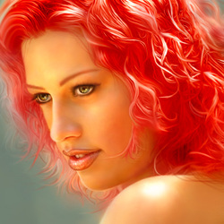 Jigsaw puzzle: Fire colored hair