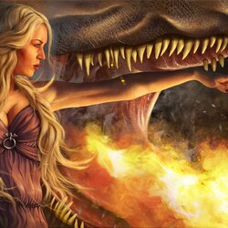 Jigsaw puzzle: Lady of Dragons