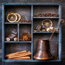 Jigsaw puzzle: Coffee and spices