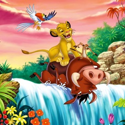 Jigsaw puzzle: Timon and Pumbaa