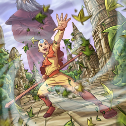 Jigsaw puzzle: Aang and Roku