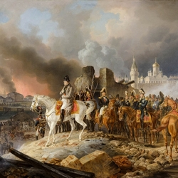 Jigsaw puzzle: Napoleon looks at the Moscow fire