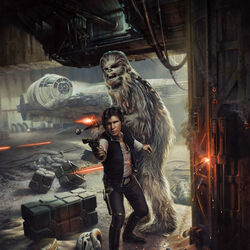 Jigsaw puzzle: Han and Chewbacca