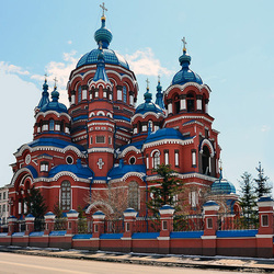 Jigsaw puzzle: Temple of the Kazan Icon of the Mother of God in Irkutsk