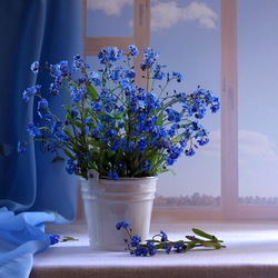 Jigsaw puzzle: Still life in blue tones