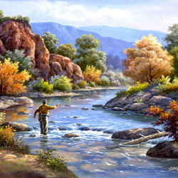 Jigsaw puzzle: Fishing