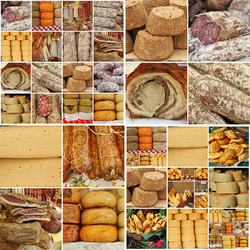 Jigsaw puzzle: Cheese and sausages