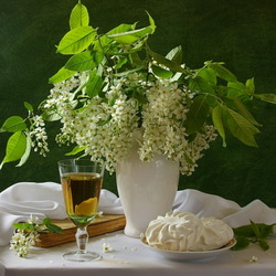 Jigsaw puzzle: Bird cherry and marshmallow