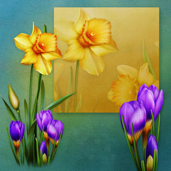 Jigsaw puzzle: Spring flowers