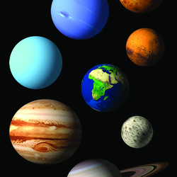 Jigsaw puzzle: Planets