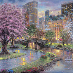 Jigsaw puzzle: Spring in New York