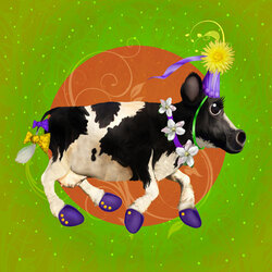 Jigsaw puzzle: Circus cow