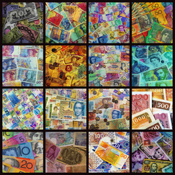 Jigsaw puzzle: World currency