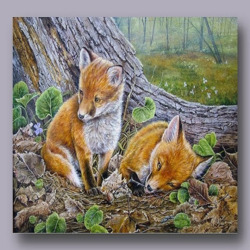 Jigsaw puzzle: Fox cubs