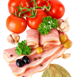 Jigsaw puzzle: Tomatoes and bacon
