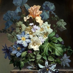 Jigsaw puzzle: Bouquet with irises