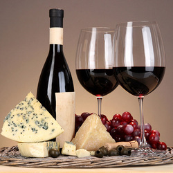 Jigsaw puzzle: Cheese and wine