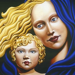 Jigsaw puzzle: Mother and child