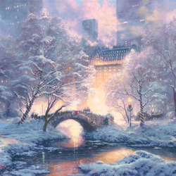 Jigsaw puzzle: Central Park in winter