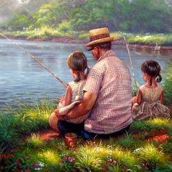 Jigsaw puzzle: Fishing with grandpa