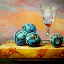 Jigsaw puzzle: Still life with plums