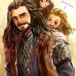 Jigsaw puzzle: Thorin with his nephews