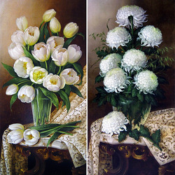 Jigsaw puzzle: Tulips and Chrysanthemums