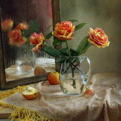 Jigsaw puzzle: Still life with roses and apples