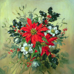 Jigsaw puzzle: Bouquet for Christmas
