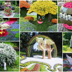 Jigsaw puzzle: Vertical flower beds