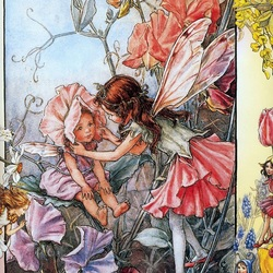 Jigsaw puzzle: Sweet pea fairies