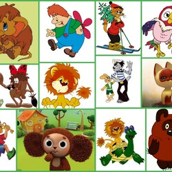 Jigsaw puzzle: Cartoon characters of my childhood