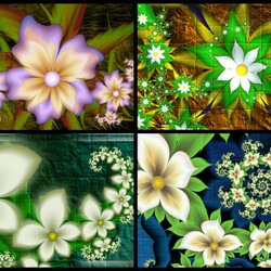 Jigsaw puzzle: Dance of flowers