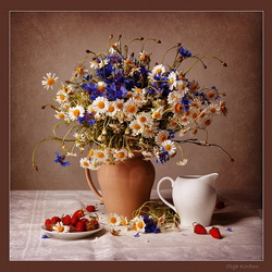 Jigsaw puzzle: Still life with flowers