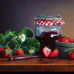 Jigsaw puzzle: Strawberry jam