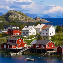 Jigsaw puzzle: Fishing Village, Lofoten
