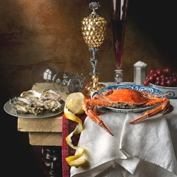 Jigsaw puzzle: Still life with seafood