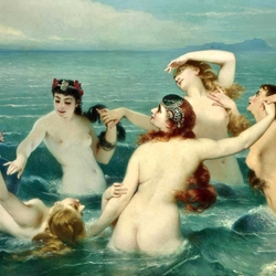 Jigsaw puzzle: Swimming with a mermaid