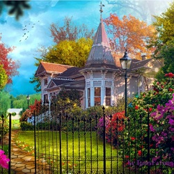 Jigsaw puzzle: House with garden
