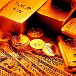 Jigsaw puzzle: Gold bars and dollars