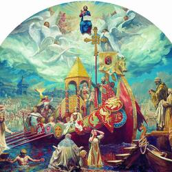 Jigsaw puzzle: Baptism of Russia