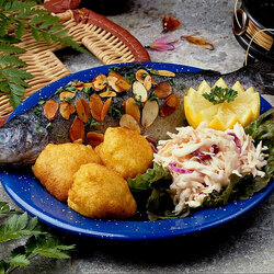 Jigsaw puzzle: Fish with garnish